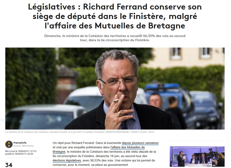 Richard Ferrand, cigarette au bec